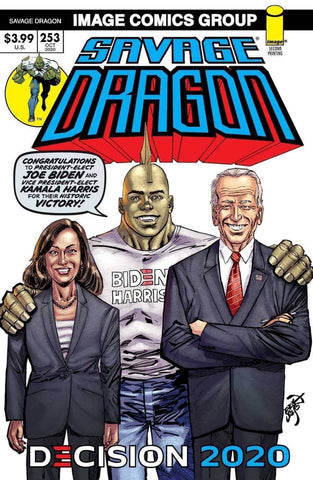 SAVAGE DRAGON #253 2ND PTG BIDEN HARRIS 12/9/20