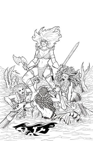 INVINCIBLE RED SONJA #1 40 COPY CONNER LINE ART VIRGIN INCENTIVE- 5/5/21