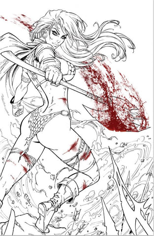 Red Sonja #19 - Dawn McTeigue CVR B Blood Axe Inks