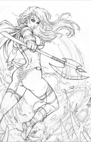 Red Sonja #19 - Dawn McTeigue CVR C Original Pencils