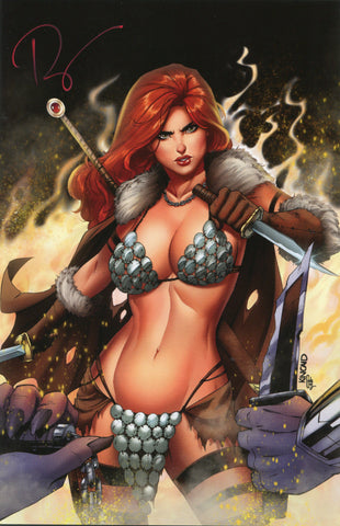 Killing Red Sonja #1 Black Cover - Signed