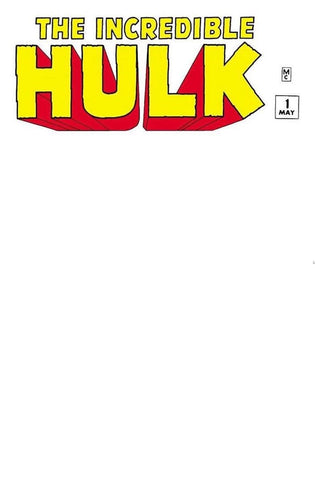 INCREDIBLE HULK #1 BLANK EXCLUSIVE FACSIMILE