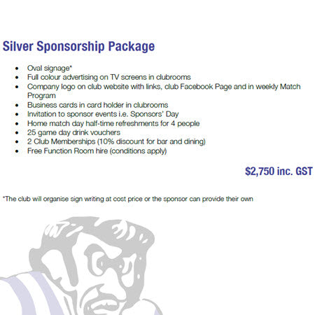 Sponsorship - Silver Package