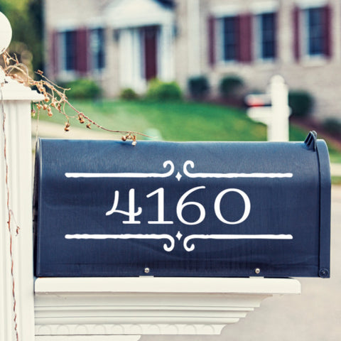 Street Number Mailbox Decal - Create & Ship