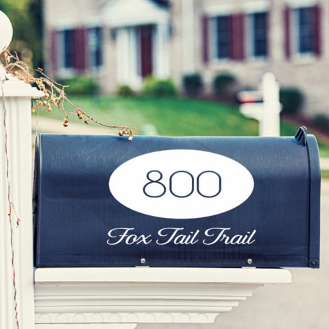 Oval Mailbox Decal - Create & Ship
