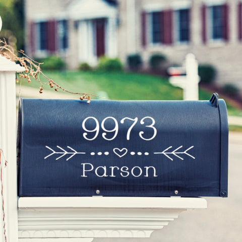 Heart Element Mailbox Decal - Create & Ship