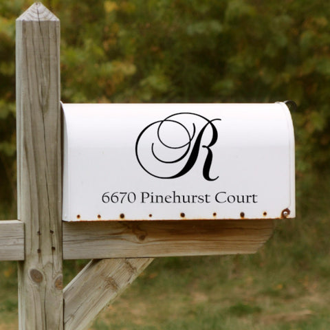 Fancy Mailbox Decal - Create & Ship