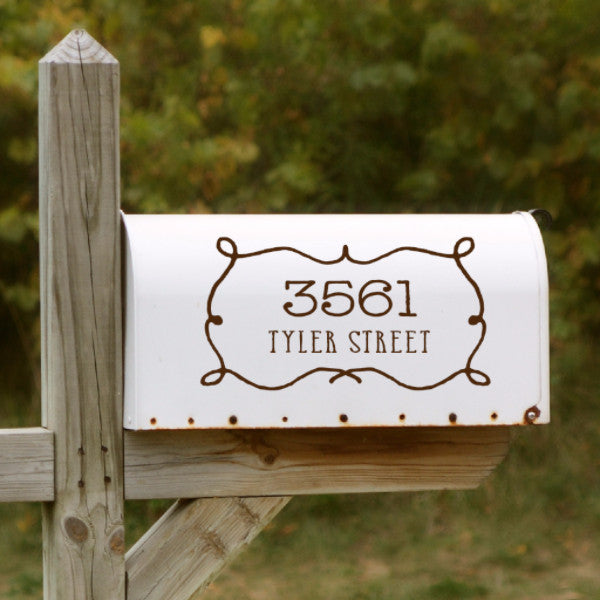 Western Style Mailbox Decal - Create & Ship