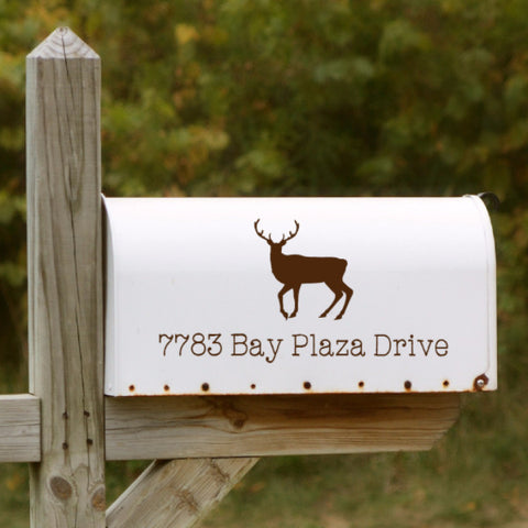 Deer Mailbox Decal - Create & Ship