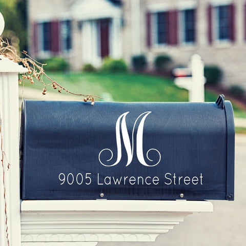 Script Mailbox Decal - Create & Ship