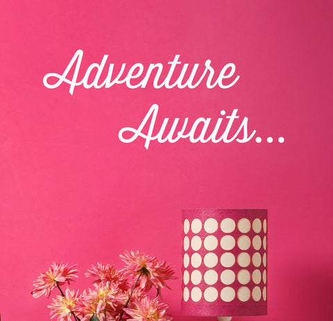 Adventure Awaits Wall Decal - Create & Ship