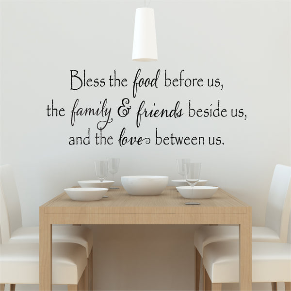 Bless the Food Wall Decal - Create & Ship