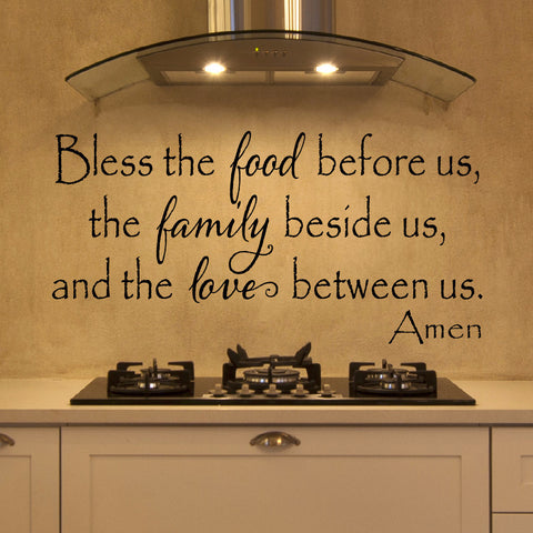 Bless The Food Before Us Wall Decal - Create & Ship