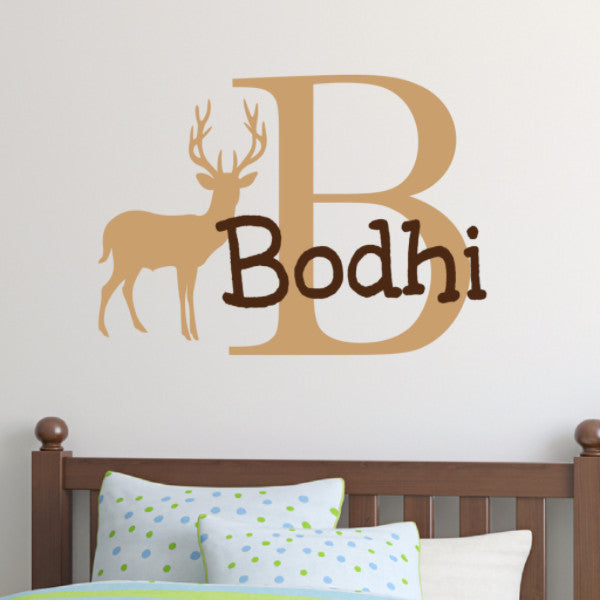 Boys Deer Monogram Wall Decal   Create U0026 Ship ...