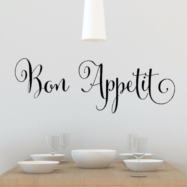 Bon Appetit Wall Decal - Create & Ship