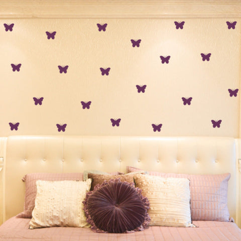 Butterfly Wall Decals - Set of 100 - Create & Ship