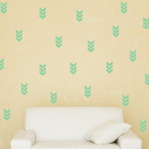 Chevron Wall Decals - Set of 100 - Create & Ship