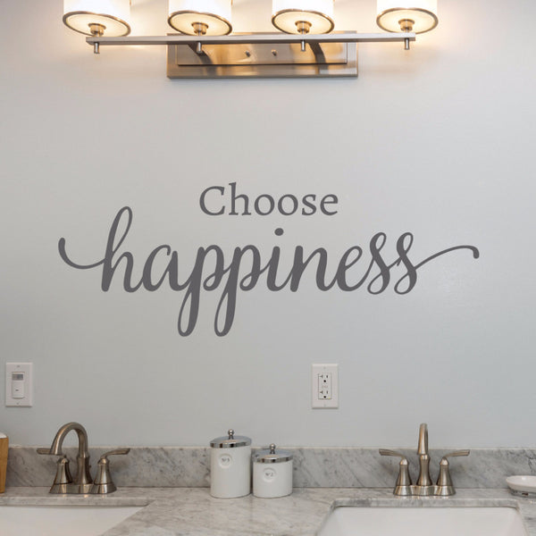 Choose Happiness Wall Decal - Create & Ship