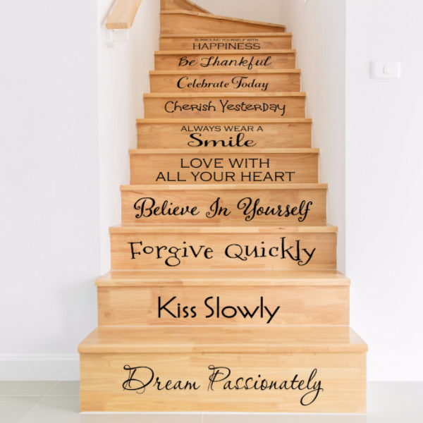 Inspirational Stair Decals - Create & Ship