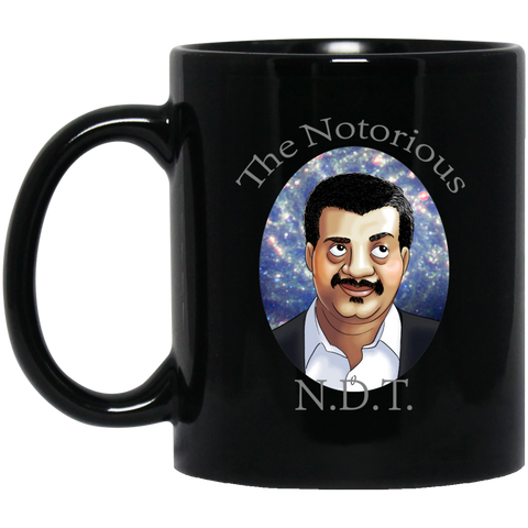 THE NOTORIOUS NDT 11 OZ BLACK COFFEE MUG