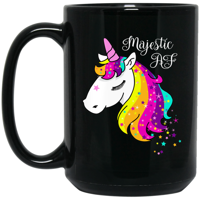 MAJESTIC AF 15 OZ BLACK COFFEE MUG