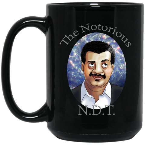 THE NOTORIOUS NDT 15 OZ BLACK COFFEE MUG