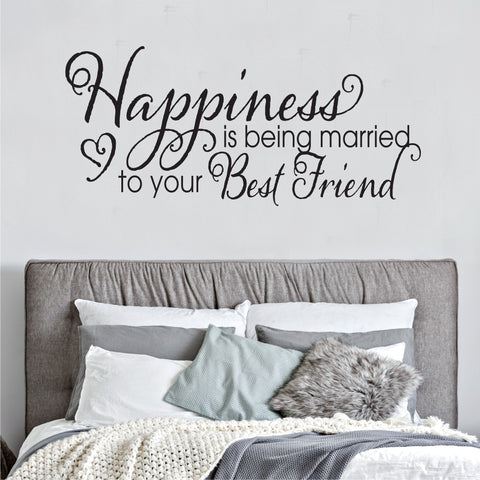 Happiness Is Being Married Wall Decal - Create & Ship