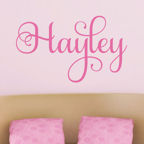 Haley Name Wall Decal - Create & Ship