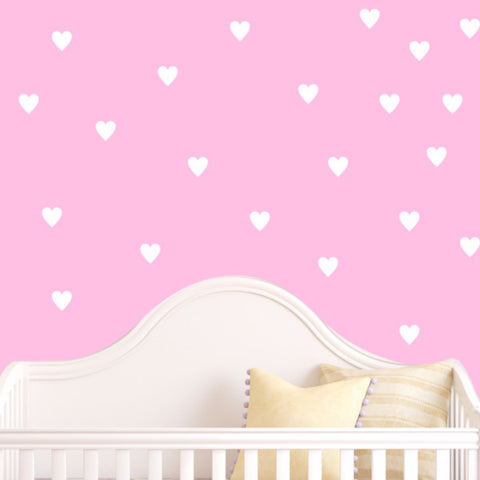 Heart Wall Decals - Set of 100 - Create & Ship