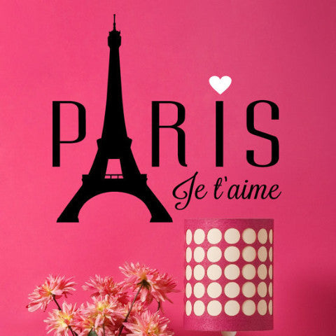 Je t'aime Paris Wall Decal - Create & Ship