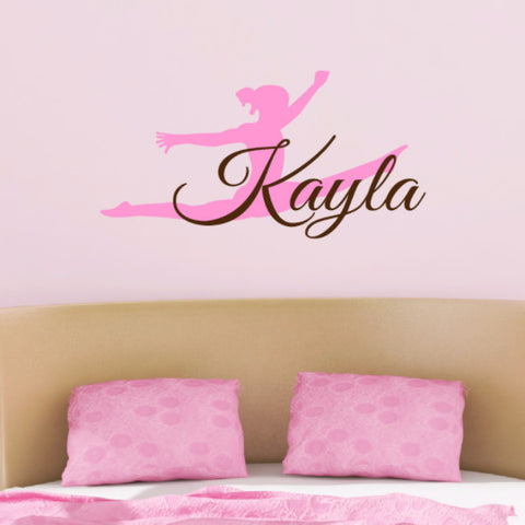 Gymnast Name Wall Decal - Create & Ship