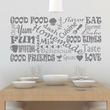 Kitchen Wall Decal Subway Art - Create & Ship