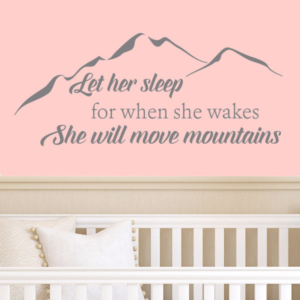 Let Her Sleep Wall Decal - Create & Ship