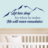Let Him Sleep Wall Decal - Create & Ship