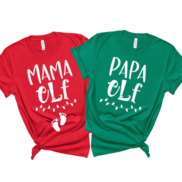 MAMA ELF PAPA ELF UNISEX SHIRT SET