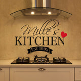 Personalized Kitchen Established Date Wall Decal - Create & Ship