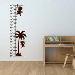 Monkey Growth Chart Wall Decal - Create & Ship