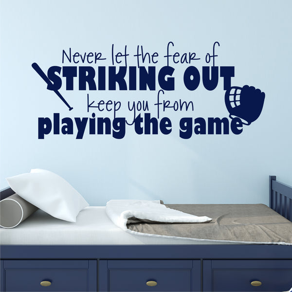 Baseball Quote Wall Decal - Create & Ship