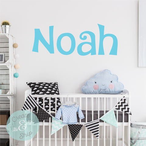 Personalized Name Wall Decal  Font 26