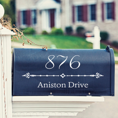 Fancy Numbers Mailbox Decal - Create & Ship