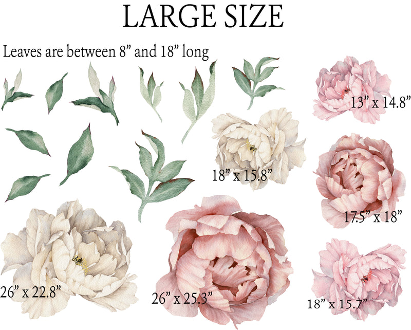 PEONY WATERCOLOR DECALS