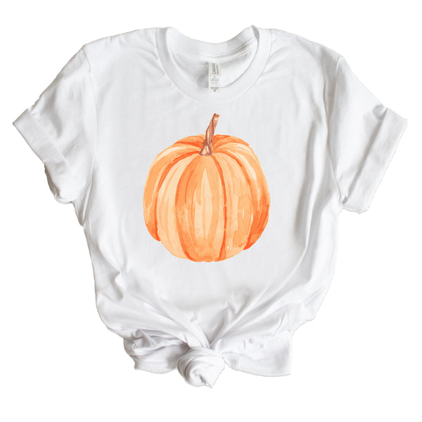 WATERCOLOR PUMPKIN SHIRT