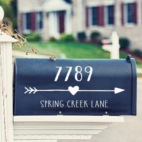 Heart Arrow Mailbox Decal - Create & Ship