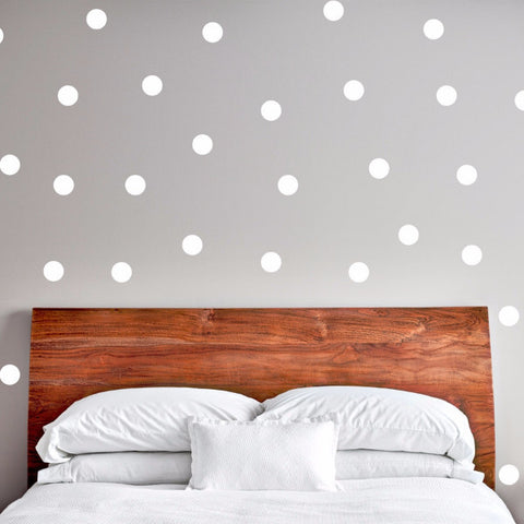 Polka Dots Wall Decals - Set of 100 - Create & Ship