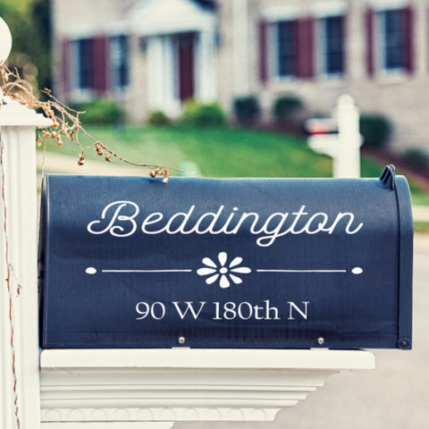 Flower Mailbox Decal - Create & Ship