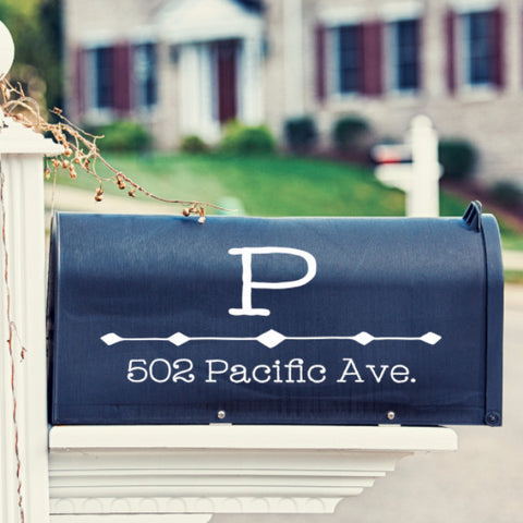 Triangle Design Mailbox Decal - Create & Ship