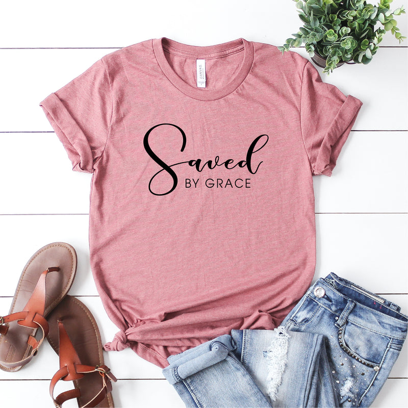 SAVED BY GRACE UNISEX SHIRT