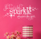 She Leaves A Little Sparkle Wall Decal - Create & Ship