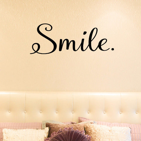 Smile Wall Decal - Create & Ship