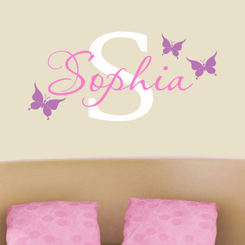 Butterfly Monogram Decal - Create & Ship